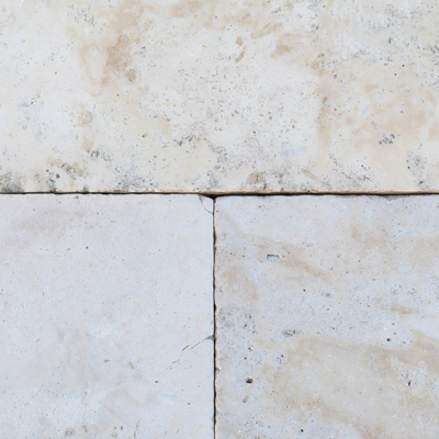 Ivory Travertine Pre-cut Flooring Image
